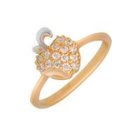 Золотое кольцо с фианитами АБ1201384Р