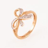 Золотое кольцо с фианитами АБ1201397Р