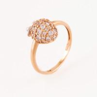 Золотое кольцо с фианитами АБ1201378Р
