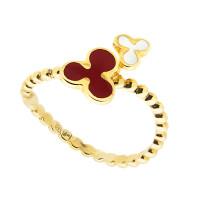 Золотое кольцо с эмалью РВЛВФР0002