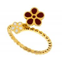 Золотое кольцо с эмалью РВЛВФР0004