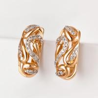 Золотые серьги с бриллиантами ХС051067321
