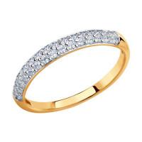 Золотое кольцо с фианитами ДИ017149