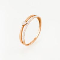 Золотое кольцо с фианитами ЮПК1327569