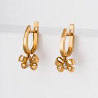 Золотые серьги подвесные с бриллиантами ВБ2450-151-01-00