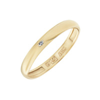 Золотое кольцо обручальное с бриллиантом ВБ7031-151-01-00