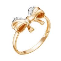 Золотое кольцо с фианитами ЮИК132-4320