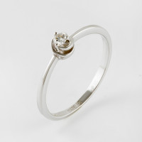 Золотое кольцо с бриллиантом ЮИК210-369