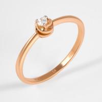 Золотое кольцо с бриллиантом ЮИК112-369