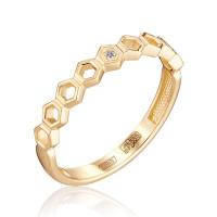 Золотое кольцо с бриллиантом ЮЗ1-11-0854-101