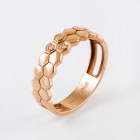 Золотое кольцо с бриллиантами ЮЗ1-11-0856-101