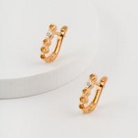 Золотые серьги с бриллиантами ЮЗ2-11-0854-101