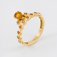 Золотое кольцо с сапфирами ЮЗ1-11-0876-313