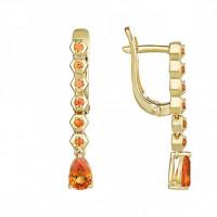 Золотые серьги с сапфирами ЮЗ2-11-0876-313