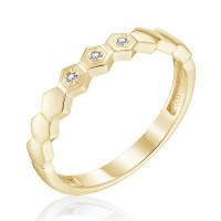 Золотое кольцо с бриллиантами ЮЗ1-11-0855-301