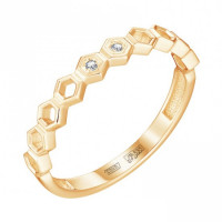 Золотое кольцо с бриллиантами ЮЗ1-11-0895-301