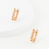 Золотые серьги с бриллиантами ЮЗ2-11-0851-101