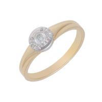 Золотое кольцо с бриллиантами ЮЗ1-11-0831-301 Якутия