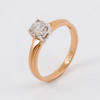 Золотое кольцо с бриллиантом ЮЗ1-11-0806-101