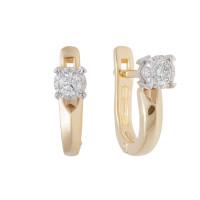 Золотые серьги с бриллиантами ЮЗ2-11-0808-301