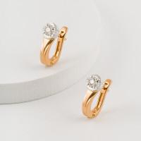 Золотые серьги с бриллиантами ЮЗ2-11-0831-101