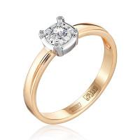 Золотое кольцо с бриллиантами ЮЗ1-11-0833-101
