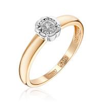 Золотое кольцо с бриллиантом ЮЗ1-11-0829-101