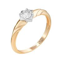 Золотое кольцо с бриллиантом ЮЗ1-11-0832-101