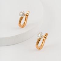 Золотые серьги с бриллиантами ЮЗ2-11-0832-101