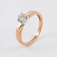 Золотое кольцо с бриллиантом ЮЗ1-11-0834-101