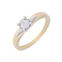 Золотое кольцо с бриллиантом ЮЗ1-11-0834-301