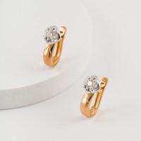 Золотые серьги с бриллиантами ЮЗ2-11-0836-101