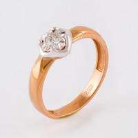 Золотое кольцо с бриллиантом ЮЗ1-11-0836-101