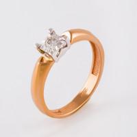 Золотое кольцо с бриллиантом ЮЗ1-11-0838-101