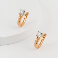Золотые серьги с бриллиантами ЮЗ2-11-0838-101