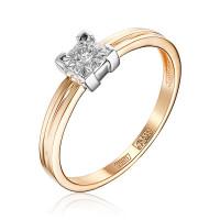 Золотое кольцо с бриллиантом ЮЗ1-11-0839-101