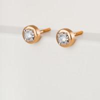Золотые серьги гвоздики с бриллиантами ЮЗ5-31-0046-101