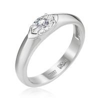 Золотое кольцо с бриллиантом ЮЗ1-11-0835-201
