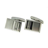Серебряные запонки с фианитами 8С141022