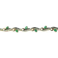 Золотой браслет с бриллиантами и изумрудами ЗСБ14060102