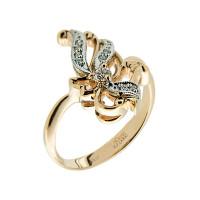 Золотое кольцо с бриллиантами ЗСК13000015