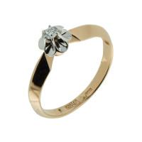 Золотое кольцо с бриллиантом ЗСК14000022