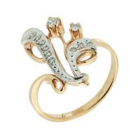 Золотое кольцо с бриллиантами ЗСК14000040