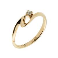 Золотое кольцо с бриллиантом ЗСК14000077
