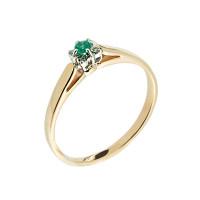 Золотое кольцо с бриллиантами и изумрудом ЗСК14000172