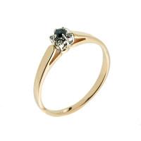 Золотое кольцо с бриллиантами и сапфиром ЗСК14000272