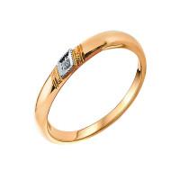 Золотое кольцо обручальное с бриллиантом ЗСК15000002