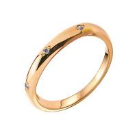 Золотое кольцо обручальное с бриллиантами ЗСК15000018