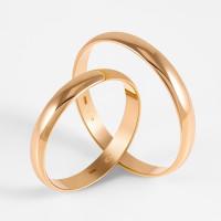 Золотое кольцо обручальное 2БКЗ5К-30П