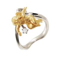 Золотое кольцо с бриллиантом ИА10440